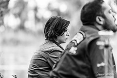 Pensive (PB1_0735) (Param-Roving-Photog) Tags: woman female pretty face wife sideportrait reflective pensive contemplative mood friend smoke sheesha hookah sirhind canal ludhiana candid photography monochrome blackandwhite bw nikond750 nikkor70200
