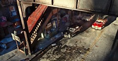 Elevated Subway (gpholtz) Tags: diorama miniatures 118 diecast