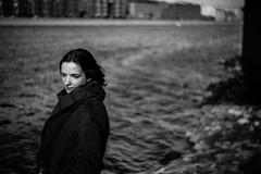 Sophie (anton_park) Tags: portrait bw blackandwhite bokeh helios44m monochrome water grain m42 5dmarkii