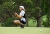 Marita Engzelius of Norway reacts to a putt lipping out on the 7th hole during the final round (Ladies European Tour) Tags: engzeliusjeanettemaritanor coffsharbour newsouthwales australia aus