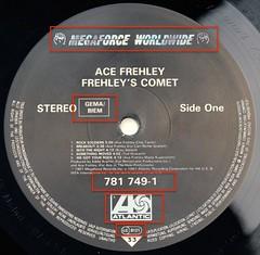 A0526 ACE FREHLEY Frehley's Comet (vinylmeister) Tags: vinylrecords albumcoverphotos gramophone lp heavymetal thrashmetal deathmetal blackmetal vinyl schallplatte disque album