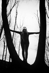 Daughter Of The Earth (poppelus) Tags: bw silhouette three cool cool2 uncool uncool2 cool3 uncool3 uncool4 uncool5 uncool6 cool4 cool5 uncool7 iceboxuncool