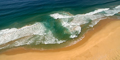 Rip! (OzzRod (on the road again)) Tags: dji phantom3a drone quadcopter djifc300s aerial orange shoreline beach sea rip breakers waves surf baragoot dailyinmarch2018