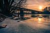 Little Ice Age (highflyer1964) Tags: fulda sonyilce fluss landscape landschaft sonne wasser ilce7m2 clouds hessen sonyilce7m2 eis fe1635mmf4zaoss deutschland sonyalpha7m2 kassel sonnenuntergang winter sunset wolken gegenlicht himmel
