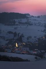 9nook (tobias-eger) Tags: village blackforest sunset blue hour bluehour redsky landscape dorf schwarzwald blauestunde landschaft sonnenuntergang buildings houses