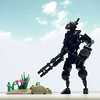 The Sentinel (Brixnspace) Tags: sentinel lego moc bot droid robot black biped walker
