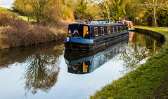Barge your way (JKmedia) Tags: boultonphotograpgy canal kennetandavon avoncliff boat winter tow path chimney verge 2018 february reflection