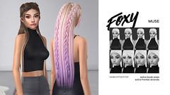 Muse @ kustom9 March (liza.broono) Tags: sl second life foxy hair mesh rigged fitted unrigged k9 kustom9 kustom 9 event rowne maitreya catwa lelutka braid braided muse rp roleplay