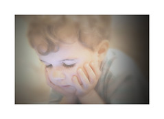 Boy and Gadget (LupaImages) Tags: child human boy light gadget ipad fingers lashes face hair small cute little family love