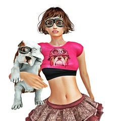 Pup (Penny Spender) Tags: dog goggles secondlife pink pup
