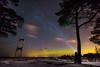 Aurora (Incredible Imagination) Tags: estonia estland aurora klooga winter nikon longexposure flashlight fx wideangle widw tree bridge vääna stars night cold sea clouds colours sky nightsky milkyway snow