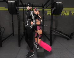 Fitness Goals (EnviouSLAY) Tags: fitnessgoals workout fitness goals work out gymscene gym scene secondlifefashion secondlifephotography blogcollab blog collab pink black white hats hair hathair weights tracksuit track suit leggings jacket socks sneakers valekoer vale koer bleich taketomi belleza bento lelutka newrelease new release tmd themensdepartment the mens department backdropcity backdrop city mensmonthly mensfashion mensfair mensevent monthlymen monthlyfashion monthlyfair monthlyevent monthly event fair fashion men pale male gay blogger secondlife second life photography