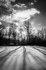 Winter's Long Shadows (Nicholas Erwin) Tags: nature landscape shadows light sun clouds weather snow winter cold naturephotography blackandwhite monochrome mono bw nikon d610 nikkor 2018g waterbury vermont vt unitedstatesofamerica usa fav10 fav25 fav50