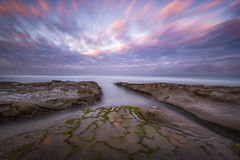 The Crossroads (Mike Ver Sprill - Milky Way Mike) Tags: la jolla california long exposure water ocean seascape shore san diego beautiful travel landscape nature algae crossroads rocks soft rocky nikon d810 nisi filter holder haida 1000x 10 stop explore west coast colorful reflections reflect sunset sunrise