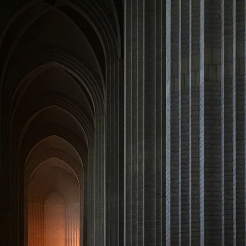 winter lights, grundtvig church. p.v. jensen-klint, architect
