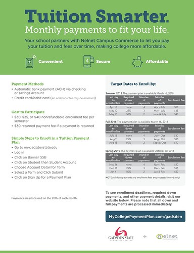 Gadsden State college payment plan Flyer