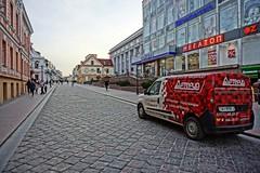 DSC05851 (lmtcats) Tags: grodno hrodna belarus sony alpha a5100 apsc ilce5100 red car paving stone