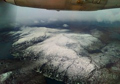 Snow on the South Uist hills in January (Domhnall Iain) Tags: southuist snow hill plane planewindow beinnmhor hecla