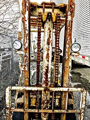 """""""Alien"""" (Halvorsong) Tags: art artifacts antique composition old rust rusty weathered oxidized oxidization iron metal urban city nashville alleys alien explore america americana photography texture textured junk junkyard corrosion abandoned abandonedplaces industry halvorsong contrast crusty"""