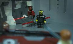Maul and Savage (Ben Cossy) Tags: darth maul savage opress obi wan kenobi star wars moc lego starfighter lightsaber rebels afol tfol
