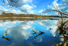 South Walsham Broad (Ron and Co.) Tags: southwalshambroad norfolkbroads fairhaven sky clouds lake water branch trees reflection illusion blue panorama stitch landscape