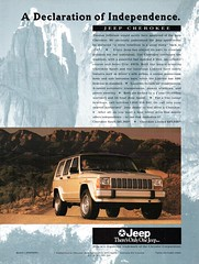 1995 XJ Chrysler Jeep Cherokee 4WD Wagon Aussie Original Magazine Advertisement (Darren Marlow) Tags: 1 4 5 9 19 95 1995 x j xj c chrysler jeep cherokee w d 4wd wheel drive wagon car cool collectible collectors classic a automobile v vehicle u s us usa united states american america 90s