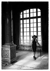 Femme en Noir (Harleynik Rides Again.) Tags: domainedetrevarez filmnoir britagne woman facelessportrait backshot window intothelight