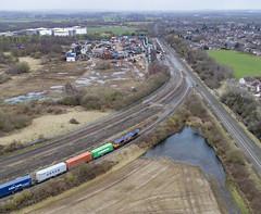 66761 and 66774 at Kingsbury (robmcrorie) Tags: 66761 66774 kingsbury branch junction warwickshire intermodal birch coppice eurostar scrap 3001 3002 emr train rail railway phantom 4