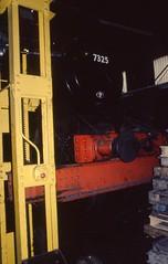 GWR 4300 class 2-6-0 no. 7325 on jacks,  Bridgnorth SVR 23 Mar 1996_scans461 (Gillett's Crossing) Tags: severnvalleyrailway railway shropshire steamlocos gwr