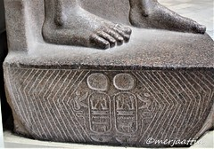 Detail of Cartouches (Merja Attia) Tags: cartouches statue colossalstatue ramsesii 19thdynasty newkingdom ancientart ancientegypt egyptianmuseum cairo egypt