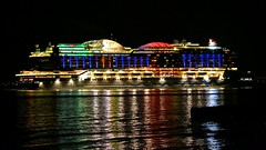 AIDAperla (medmondo66) Tags: aidacruises cruiseship nightphotography nightshot watercolours reflections