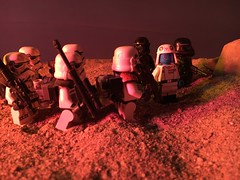 """These Droids could not have ventured far from the crash site sergeant. Call in some Viper Droids and a flight of TIEs to do recon."""