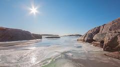 Norwegian Winter 2018... (Minkn) Tags: norwegian winter 2018 sony a77 m2 ice sun nature landscape cold blue rocks ocean beach minkn per arne