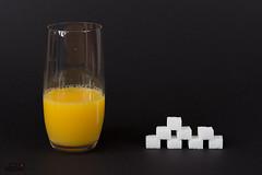 150 ml Orangensaft = 8 Stück Würfelzucker