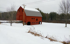Dirt Road Ski (Kyle Merrihew Photography) Tags: ski road dirt barn red snow storm cornish nh new hampshire winter trees