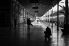 the stage is set / a never ending affair (Özgür Gürgey) Tags: 2018 50mm bw d750 nikon sirkeci architecture people repetition silhouettes street trainstation istanbul