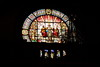 The beautiful stained glass in the Montserrat Monastery (julpania) Tags: spain montserrat church stainedglass