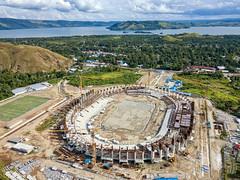 On Progress (Jokoleo) Tags: stadion papua bangkit danau sentani jayapura indonesia lake green grass outdoors landscape bay sky sea water forest field ngc tree aerial drone dji mavic