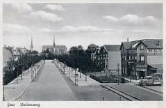 Goes_Stationsweg richting stad - Langeveld - ca 1930 (Flu59) Tags: goes stationsweg langeveld tivoli