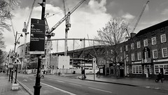 New Spurs stadium taking shape, Tottenham, North London, March 2018 (sbally1) Tags: spurs tottenham tottenhamhotspur football nothlondon whitehartlane epl premierleague construction stadium highroad soccer nfl