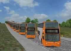 621-631 in OMSI (timothyr673) Tags: nottingham nottinghamcitytransport nct nctroute36 nctomsi orangeline orange bus omsi alexanderdennis enviro400 e400 c400r scania n230ud nottinghamomsibus 621 622 623 624 625 626 627 628 629 630 631 yn14mub yn14muc yn14mue yn14muo yn14mup yn14muu yn14muv yn14muw yn14muy yn14mva yn14mvc