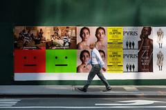 Journeyman (ho_hokus) Tags: 2017 fujix20 fujifilmx20 manhattan midtown nyc newyorkcity pedestrian poster streetphotography man