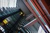 Looking Upwards Again! (Raphael de Kadt) Tags: geometry dusseldorf germany europe building ministry skyscraper fujifilmxt2 fujinonxf16mmwr fujifilm fujinon interior geometrical high tall lifts elevators girders