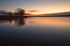 A Quiet Morning (mclcbooks) Tags: sunrise dawn daybreak lake clouds sky silhouettes trees le longexposure landscape chatfieldstatepark lakechatfield colorado