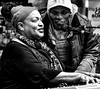 LADY BLUES & FRIEND . . . (panache2620) Tags: blues openmike jazzz singer music monochrome bw midtownglobalmarket minneapolis minnesota candid entertainer eos canon street streethotography people casual