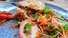 Northcote Point, North Shore, Auckland, New Zealand (Sandy Austin) Tags: panasoniclumixdmcfz70 sandyaustin northshore auckland northisland newzealand cafe billys food pie pork salad tomatoes carrot