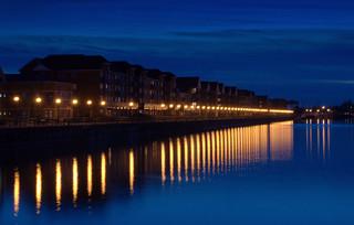 Preston Docks night time scene