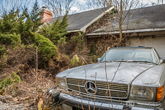 Abandoned Mercedes (AP Imagery) Tags: urbex mercedes abandoned decay growth car ky benz house kentucky urbanexploration home usa
