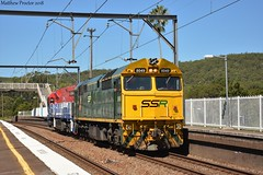 8049 & FIE003 Head L/E through Awaba, 11/03/18 (Matthew Proctor) Tags: locomotive diesel alco ge comeng ugl awaba australia nse trains