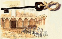 St Amand de Coly ,  la clef (Cat Gout) Tags: abbaye saintamanddecoly église eu sketch chaise